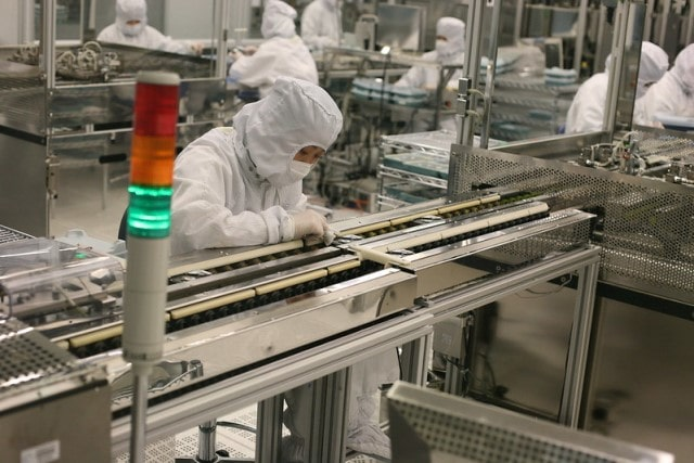 A hard drive manufacturing plant.